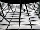 Workers Clean Windows of Shanghai Oriental Art Center Photographic Print