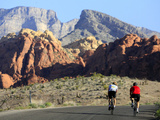 Two Cyclists Ride Along the 13-Mile-Long Scenic Drive Fotoprint