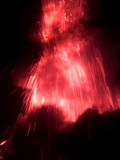 Lava Explodes from the Mount Mayon Volcano Photographic Print