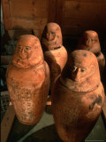 26th Dynasty Canopic Jars, Tomb of Iufaa, Abu Sir, Egypt Photographic Print by Kenneth Garrett