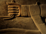 Clasped Hand of the Official Khudu-Khaf in Cemetery near Giza, Old Kingdom, Egypt Photographic Print by Kenneth Garrett