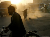 An Afghan Street Sweeper Photographic Print