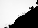 Ventura County Fire Department Personnel Keep a Watch Over the Hills Photographic Print