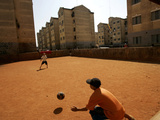 Children Play Soccer in Novo Mundo Slum, in Sao Paulo, Brazil Photographic Print