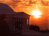 The Jefferson Memorial is Seen at the End of a Record High Temperature Day Photographic Print