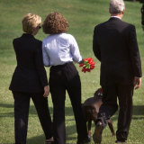 President Clinton, Hillary Rodham Clinton, Daughter Chelsea Photographic Print