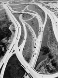 This 1937 Aerial View Shows the Biggest of Highway Crossover Points Photographic Print