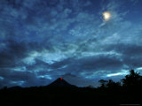 Lava is Seen Glowing on the Slope of Mount Merapi Photographic Print
