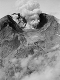 The North Side of Mount St. Helens is Wide Open as the Volcano Starts to Erupt Photographic Print