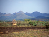 Hut in Field Near Konso Village, Omo River Region, Ethiopia Photographic Print by Janis Miglavs