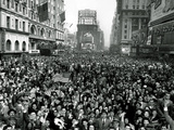 Looking North from 44th Street, New York's Times Square is Packed Photographic Print