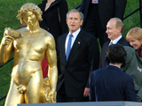 U.S. President George W. Bush, Russian President Vladimir Putin, Russian First Lady Lyudmila Putin Photographic Print