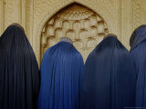 Afghan Women Wearing Burqas Wait to Get Their Voter Identity Cards Photographic Print
