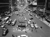 This is an Aerial View of Times Square from the New York Times Newspaper Tower Building Photographic Print