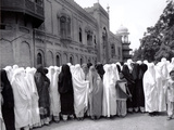Pathan Women Observe Strict Muslim Purdah as They Come out to Vote at a High School Photographic Print