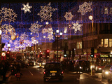 A View of Christmas Decorations Photographic Print
