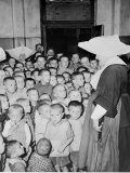 Some of Poland's Thousands of Orphan Children at the Catholic Orphanage Photographic Print