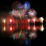 A 23 Minutes-Long Firework Display Marks the End of the Year of China's Festivities Photographic Print