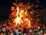 Malaysian Ethnic Chinese Set Fire to the King of Hell Giant Statue Photographic Print