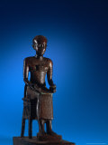 Physician, Statue of Imhotep, Tomb of Qar, Egypt Photographic Print by Kenneth Garrett