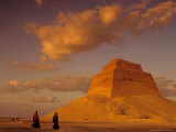 Pyramid of King Sneferu, Meidum, Old Kingdom, Egypt Photographic Print by Kenneth Garrett