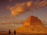 Pyramid of King Sneferu, Meidum, Old Kingdom, Egypt Photographic Print by Kenneth Garrett