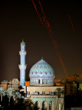Tracer Fire Lights up the Sky Over the Ramadan 14th Mosque Photographic Print