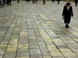 An Orthodox Israeli Jew Walks Across the Plaza Next to the Western Wall Photographic Print