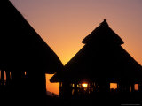 Sunset on Traditional Konso Huts, Omo River Region, Ethiopia Photographic Print by Janis Miglavs
