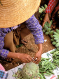 Woman Selling Beans, Kalaw, Shan State, Myanmar Photographic Print by Inger Hogstrom