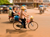 Bicycle Transportation, Vientiane, Laos Photographie par Gavriel Jecan