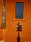 Adinkra Symbols on Shrine to Nana Yaa Asantewaa, Ejisu, Ghana Photographic Print by Alison Jones