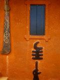 Adinkra Symbols on Shrine to Nana Yaa Asantewaa, Ejisu, Ghana Photographic Print by Alison Jones