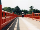 Kimono on the Bridge, Kyoto, Japan Photographic Print by Shin Terada