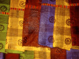 Detail of Adinkra Cloth, Market, Sampa, Brongo-Ahafo Region, Ghana Photographic Print by Alison Jones