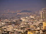 City View from Penha Hill, Macau, China Photographic Print by Walter Bibikow