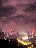 Central Overview from Stubbs Road Lookout, Hong Kong, China Photographic Print by Brent Bergherm
