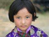 Bhutanese Girl, Wangdi, Bhutan Reproduction photographique par Keren Su