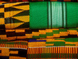 Kente Cloth, Artist Alliance Gallery, Accra, Ghana Fotografisk tryk af Alison Jones