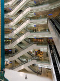 Atrium of New World City Shopping Mall near People's Square and Nanjing Road, Shanghai, China Photographic Print by Paul Souders