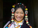 Tibetan Woman, Tibet, China Photographic Print by Keren Su