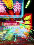 Neon Lights in Jordan and Mong Kok District, Hong Kong, China Photographic Print by Russell Gordon