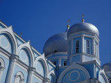 Blue and White Domed Greek Orthodox Church, Uspensky Cathedral, Odessa, Ukraine Photographic Print by Cindy Miller Hopkins