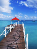 Dock in St. Francois, Guadeloupe, Puerto Rico Photographic Print by Bill Bachmann