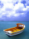 Close-up of Fishing Boat, Aruba Photographic Print by Bill Bachmann