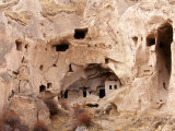 Exposed Rock Dwellings in Zelve Valley, Cappadocia, Central Anatolia, Turkey Photographic Print by Ali Kabas
