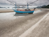 Fishing Boats on Sam Roi Yot Beach, Thailand Photographic Print by Gavriel Jecan