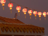 Hanging Red Paper Lanterns, Thailand Photographic Print by Gavriel Jecan