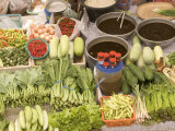 Vegetable and Food, Khon Kaen, Thailand Photographic Print by Gavriel Jecan