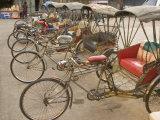 Gavriel Jecan - Bicycle Taxis, Khon Kaen, Thailand Fotografická reprodukce